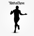 Running man silhouette and hand drawn quote vector image vector image