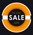 sale banner template design orange round vector image vector image
