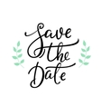 Save the date lettering decor vector image vector image