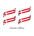 set of four modern colored danish ribbons vector image vector image