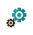 setting gears work business strategy icon vector image