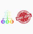 spectrum pixel bank hierarchy icon and vector image vector image
