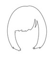 squareback hairstyle single icon in outline style vector image vector image