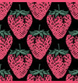 strawberry pattern background vector image vector image