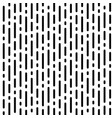 stripe pattern with black rounded lines on white vector image vector image
