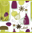the jars with spicy cucumbers seamless pattern vector image