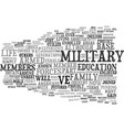 the military life then and now text background vector image vector image