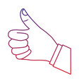 thumb up hand gesture icon image vector image vector image