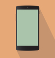 Typical back mobile phone vector image vector image