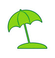umbrella and sun lounger sign lemon vector image vector image