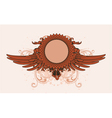 Vintage emblem with wings vector | Price: 1 Credit (USD $1)