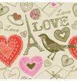 Love France Background Pattern vector image