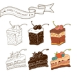 Colorful pastry collection vector image