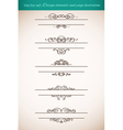 Design elements and page decorations set vector image