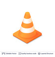 3d traffic cone icon isolated on white vector image