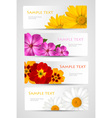 banners with different colorful flowers vector image vector image