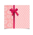 Beautiful vintage pink greeting card vector image vector image