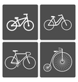 Bicycle icons vector image vector image