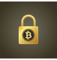 Bitcoins and lock vector image