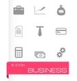 black business icon set vector image