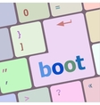 boot button on computer pc keyboard key vector image vector image