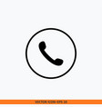 call icon round button design template vector image vector image