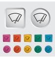 Car icon wiper vector | Price: 1 Credit (USD $1)
