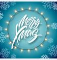 christmas electric garland light bulbs and vector image