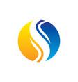 circle swirl business logo vector image vector image