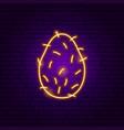 coconut neon sign vector image vector image