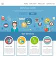 Dental Care Page Design vector image