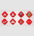 design isolated on red label for halloween vector image vector image