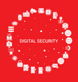 digital security icon set infographic template vector image