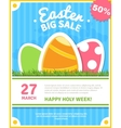 Easter sale poster vector image