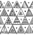 ethnic triangles seamless pattern vector image vector image