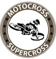 extreme motosport icon vector image vector image
