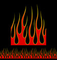 fire and flame black background graphic elements vector image
