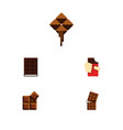 flat icon sweet set of shaped box dessert vector image vector image