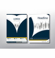 flyer design template leaflet cover presentation vector image vector image