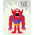 food monster vector image vector image