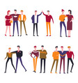 friends people flat icons vector image