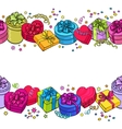 Greeting card template with endless border of vector image