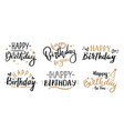happy birthday celebration concept greeting vector image