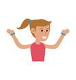happy smiling woman cartoon icon image vector image vector image