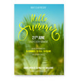 hello summer beach party flyer holidays events vector image vector image