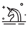 icon unicorn unicorn start up company icon modern vector image