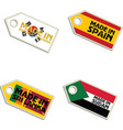 label Made Korea Spain Sri Lanka Sudan vector image