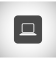 laptop icon network display white business blank vector image vector image