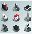 library color isometric icons vector image vector image