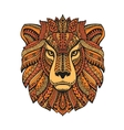 Lion head isolated on white background Hand drawn vector image